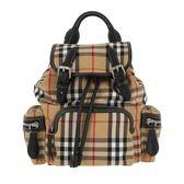 ■專櫃77折■2019新品■ 全新真品Burberry The Rucksack Vintage 格紋小型可斜背後背包