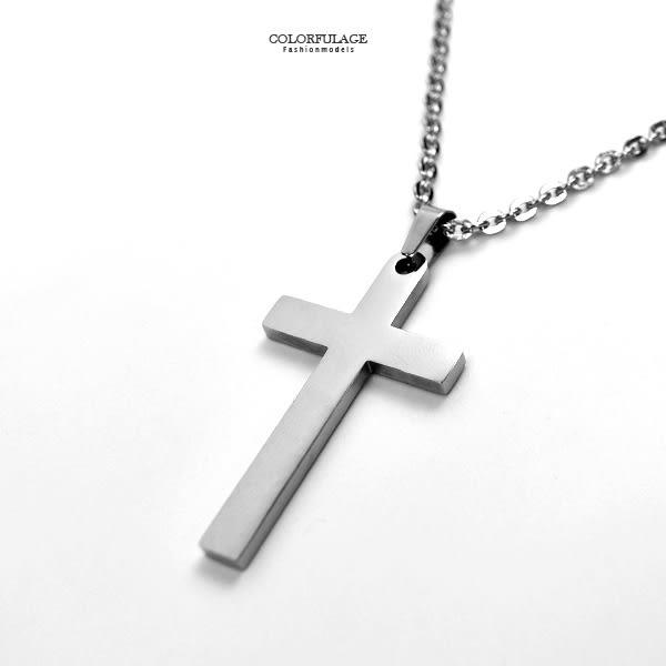 十字架項鍊 鋼製基本素款鋼墜NB922