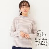 ❖ Hot item ❖  微高領橫條紋羅紋上衣 - E hyphen world gallery