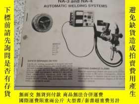 二手書博民逛書店operating罕見manual NA-3andNA-4 Automatic welding systems