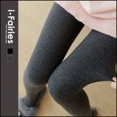 現貨+快速★立體螺紋豎條紋棉質加厚加絨刷毛內搭連褲襪★ifairies【65343】