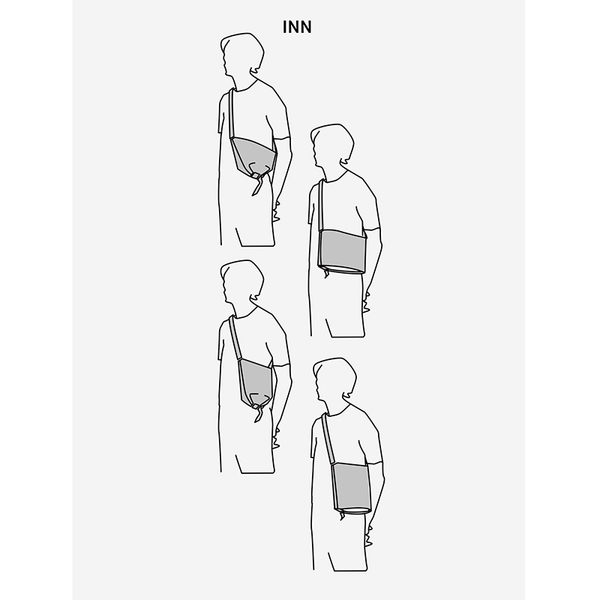 【cote&ciel】INN M COATED CANVAS BLACK No.28763 機能兩用斜肩包