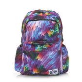 《高仕皮包》【免運費】KANGOL 都會棕梠圖騰後背包.紫色KG1111-F-POP
