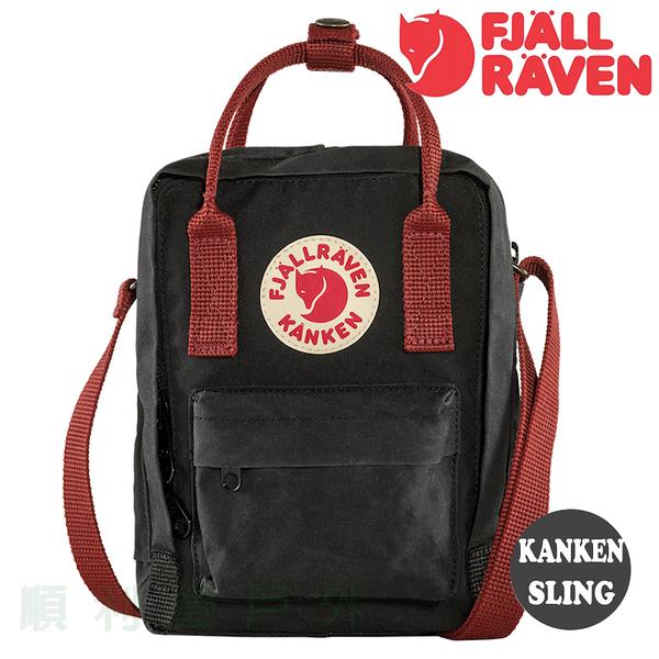 瑞典 Fjallraven KANKEN SLING 隨身袋 550/326 黑/公牛紅 空肯包 肩背包 斜背包 側背包 OUTDOOR NICE