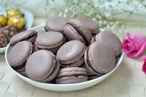 香草哲雪巧克力馬卡龍手工皂
