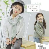 女童韓版長袖襯衫上衣 2色