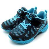 《7+1童鞋》FILA 2-J824S-303 輕量透氣 防潑水EVA 運動鞋 慢跑鞋 4227 藍色