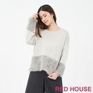 【RED HOUSE 蕾赫斯】海馬毛針織...