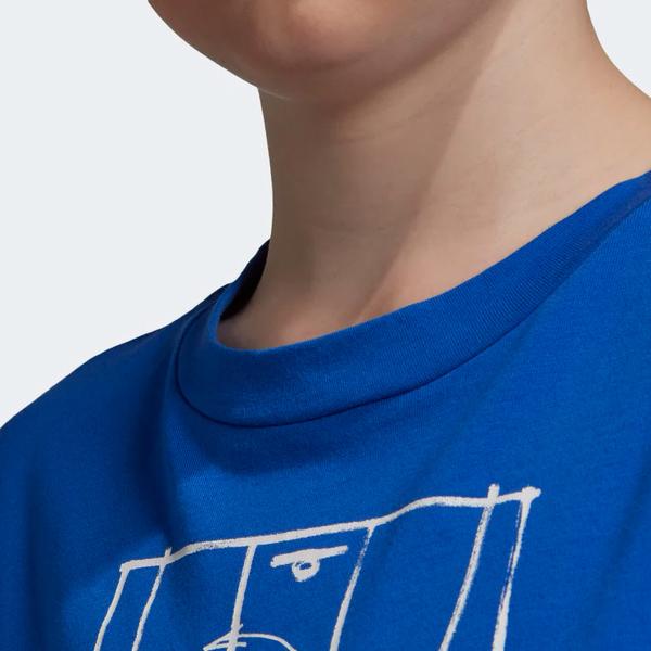 ADIDAS ID STADIUM TEE 童裝 大童 短袖 休閒 純棉 藍【運動世界】DV1688