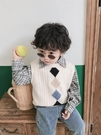 男童秋冬裝毛衣馬甲寶寶針織背心兒童線衫中小童坎肩洋氣春秋衣服
