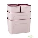 四件套收納箱塑料整理箱衣物衣櫃桌面收納盒玩具零食儲物箱xw 【降價兩天】