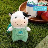 Hamee 日本 Pig童話故事 三隻小豬的好朋友 絨毛玩偶 布偶娃娃 吊飾 掛飾 (乳牛/綠色) 557-026896