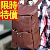 後背包-簡約韓版好搭皮革男女-雙肩包-1款59ab33【巴黎精品】