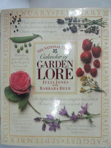 【書寶二手書T2/園藝_ELY】The National Trust Calendar of Garden Lore_Julia Jones, Barbara Deer