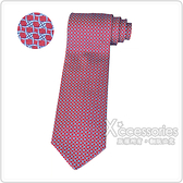 HERMES愛馬仕TOULINE經典緹花LOGO編織圖案設計蠶絲領帶(紅)
