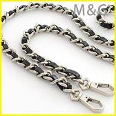 包包鏈條穿皮金屬包包帶包鏈條配件包包鏈子帶金屬鏈條單肩斜挎包鏈條帶