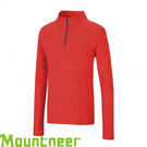 【Mountneer 山林 男款 雲彩針織保暖上衣《紅》】22P15/吸濕排汗/長袖衣