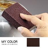 菜瓜布 百潔布 金鋼砂 隙縫刷 清潔刷 廚房清潔 鐵鍋刷 雙面加厚 金鋼砂海綿刷【B055-1】MY COLOR