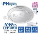 PHILIPS飛利浦 LED 61049 恒祥 10W 2700K 黃光 全電壓 吸頂燈 _ PH430607