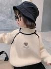 女童上衣 女童高領毛衣兒童卡通針織衫童裝新年線衣上衣韓2021冬裝新款【快速出貨八折搶購】