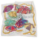TRUSSARDI 艷陽夏日風情帕巾(白色)989045-26
