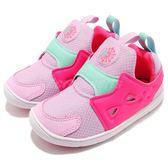 Reebok Ventureflex Slip-On 粉紅 紫 襪套式 經典鞋款 無鞋帶 童鞋 小童鞋【PUMP306】 CM9140