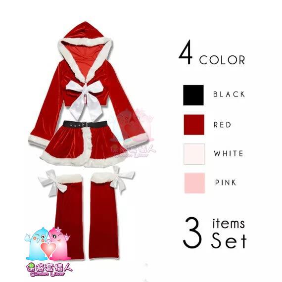 【愛愛雲端】 聖誕服  跨年 日本長袖帽衣+露腰側開裙 洋裝 舞台 Cosplay 尾牙 春酒 R8G07