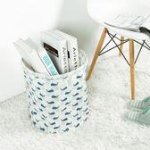 ♚MY COLOR♚棉麻印花收納籃 收納桶 髒衣籃 洗衣籃 防水 衣物 玩具 雜物 分類 兒童【N309-1】