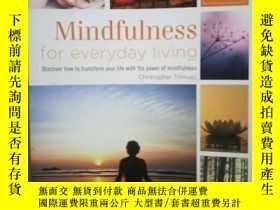 二手書博民逛書店mindfulness罕見for everyday living