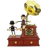 618好康鉅惠復古音樂盒旋轉八音盒禮物創意生日禮品