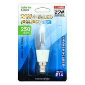 Double Sun A-C35-2W 2W小尖LED燈絲 壁燈 水晶燈 燈泡 白光 1入
