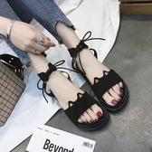 平底涼鞋 2020年新款夏季網紅厚底時裝涼鞋仙女風學生ins潮百搭平底羅馬鞋 【免運快速出貨】
