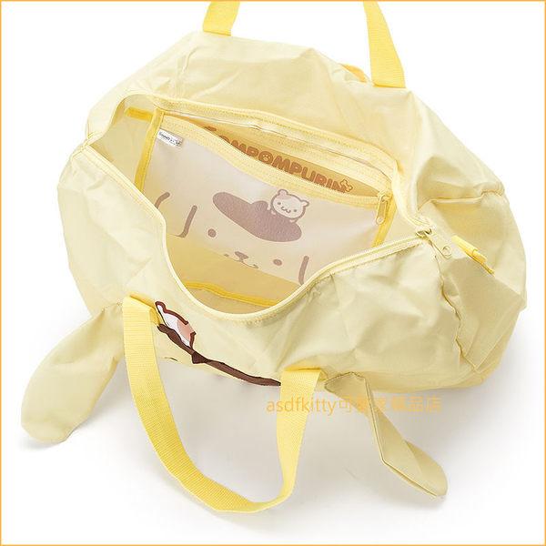 asdfkitty可愛家☆布丁狗大臉行李箱拉桿手提袋/斜背包-可收納購物袋/波士頓包-日本正版商品