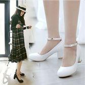 丁果、大尺碼女鞋33-43►英倫風瑪莉珍高跟鞋*3色