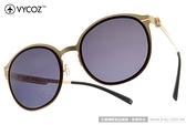 VYCOZ 太陽眼鏡 LANGKER GOLBRGD (棕-金) 薄鋼工藝 半圓框休閒款 # 金橘眼鏡