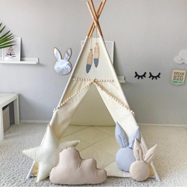 兒童帳篷 ins實木兒童帳篷室內女孩男孩夢幻公主屋家用可睡覺墻角小帳篷YTL-Ballet朵朵