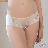 LADY 織夢天堂系列 低腰平口褲(純真白)