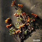 天苧紅醬果發財果仿真漿果枝果實室內裝飾花仿真花假花 qz6009【甜心小妮童裝】