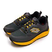 LIKA夢 LOTTO 專業郊山戶外透氣越野跑鞋 AEROVE系列 灰黑黃 3008 男