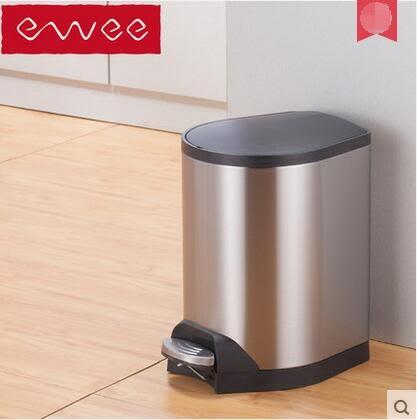 ewee/伊唯 垃圾桶不銹鋼靜音緩降防臭 蜂翼 【5L】