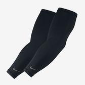 Nike [NRS66011LX] 輕量臂套 自行車袖套 單車 慢跑 路跑 防曬 舒適 黑 1雙入