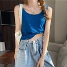 夏季2020新款韓版CHIC顯瘦純色簡約百搭學生休閒外穿運動背心女潮