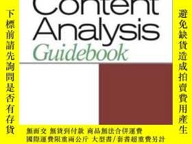 二手書博民逛書店The罕見Content Analysis GuidebookY307751 Kimberly A. Neue