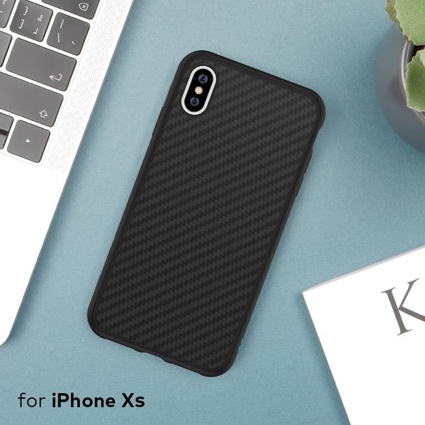 犀牛盾SolidSuit碳纖維防摔背蓋手機殼 - iPhone XS