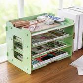 居家家木質文具收納盒辦公桌面置物架 辦公室書桌檔書本收納架 韓語空間YTL