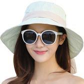 2018新款大沿遮陽女夏天防紫外線百搭潮布折疊防曬太陽帽 js658『科炫3C』