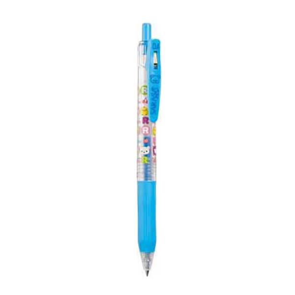 Hamee 日本正版 SARASA 懶懶熊 拉拉熊 可愛塗鴉 單色 0.4 水性原子筆 (天空藍) PP05405