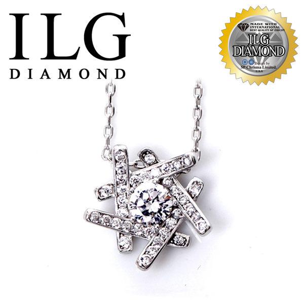 【頂級美國ILG鑽石】八心八箭項鍊-幸福之約款-NC124