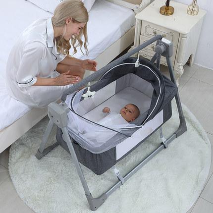 哄娃帶娃神器 嬰兒電動搖椅搖籃床 哄睡搖搖床 寶寶安撫搖床