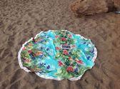K.J時尚(WUNa07)2016歐美人棉圓形流蘇沙灘巾裹巾瑜伽墊防曬披衫沙灘墊